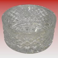 "Signed Waterford Crystal Alana 7"" Wide Bowl"