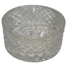 """Signed Waterford Crystal Alana 7"""" Wide Bowl"""