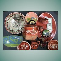 Thirteen Mexican Pottery Vessels for Collector, Decorator or Cinco de Mayo Festival (mid 20th Century)