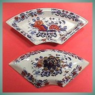 c1825 Imari Japan Gilded Stone China Covered Supper Service Section in War Bonnet variant (Pattern #995)