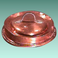 Mid to late 1700s hammer-decorated 13 1/4 inch Copper cover with wrought iron handle (scarce)