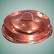 Mid to late 1700s hammer-decorated 13 1/4 inch Copper Cover with original hand wrought iron handle (scarce)