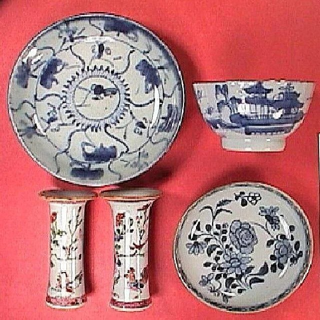 C1735 Pair Of Early Famille Rose Chinese Export Porcelain