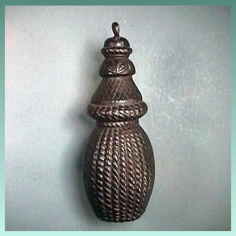 Mid to Late 1800s Cast Iron Gate Weight Molded in the shape of a Braided Cord Tassel
