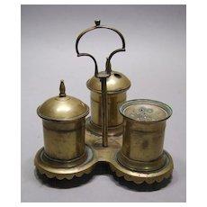 Brass Desk Standish