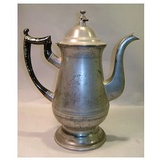 American Pewter Tea or Coffee Pot by Roswell Gleason ca. 1830