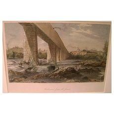 City of Richmond, Virginia Hand-Colored Print ca. 1870