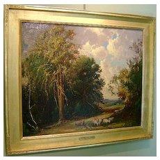 Frederick Mortimer Lamb Landscape Oil Painting