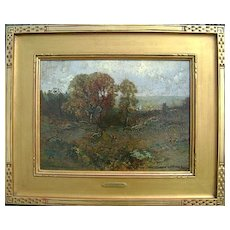 Frederick Ballard Williams Painting Rugged Treed Landscape