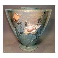 "Roseville 9"" Magnolia Vase 94-9 Double-Handled Marked"