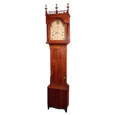 19th c. J.C. Cole Tall Case Clock, New Hampshire