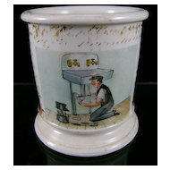 "19th c. Occupational ""Plumber"" Mug"