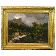 Johann H. Carmiencke Oil Painting European Landscape 1860