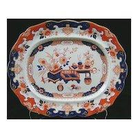 19th c. Mason's Ironstone Imari Pattern Platter