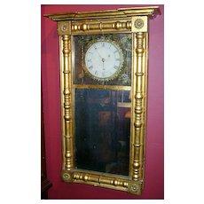 Samuel Abbott Mirror Clock New Hampshire c. 1820