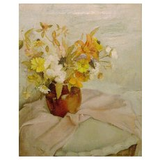 Nan Faure Greacen Oil Painting Still Life Flowers