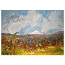 Alexander Kwartler Oil Painting Tropical Landscape