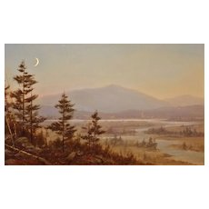 William R. Davis Oil Painting Misty Morning, Washington Valley NH
