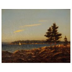 """William R. Davis Oil Painting """"View from Ocean Point,  Boothbay, ME"""""""