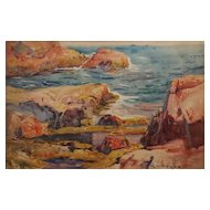 George Loftus Noyes Watercolor Coastal Seascape