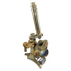 19th c. Andrew Ross Brass Microscope No. 334, London