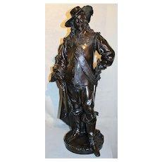 "Albert Carrier-Belleuse Bronze Sculpture ""King Charles I"""