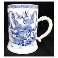 Chinese Porcelain Tankard with Serpent Handle, circa 1860