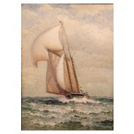 James Gale Tyler Marine Oil Painting Ship at Sea