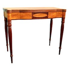 19th c. Federal Gaming Table of Portsmouth, NH origin