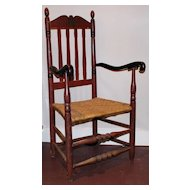 Spindle Chair with Red Paint c. 1900