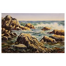 Bill Childs Watercolor Painting Coastal Seascape