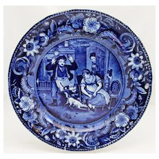 """Clews Staffordshire """"The Escape of the Mouse"""" 10"""" Plate c. 1820"""