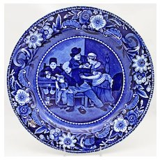 """Clews Staffordshire """"The Valentine"""" 9"""" Plate c. 1820"""