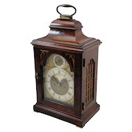 18th c English Edward Foster Mahogany Table or Bracket Clock