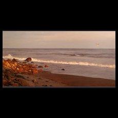 Erick Ingraham Oil Painting Heading Home / Evening Tranquility on Block Island Rhode Island