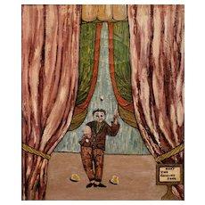 Herbert  Lyons Whimsical Oil Painting The Juggling Fool