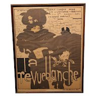 "Rare 1894 Original Lithograph of Poster by Pierre Bonnard ""La Revue Blanche"""