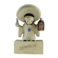 Cointreau Liqueur Pierrot Clown Advertising Store Display Figure 1930's
