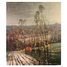 """John Charles Terelak Oil Painting """"October Rain Near Manchester VT"""""""