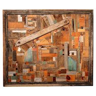 "Jason Reimers Wood Collage ""Fly Over"""