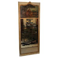 19th c French Gilt Trumeau Mirror