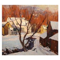 Emile Albert Gruppe Oil Painting Winter Landscape