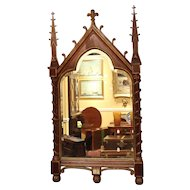 19th Century Gothic Revival Rosewood Mirror