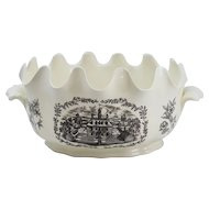 20th c Wedgwood Williamsburg Punch Bowl / Monteith Bowl