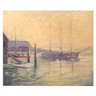 Franklin Edward Morris Oil Painting Mystic Seaport 1988