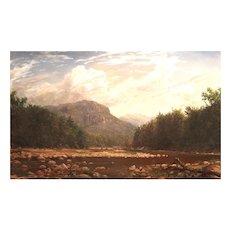Erik Koeppel Oil Painting Frankenstein Cliffs Crawford Notch NH