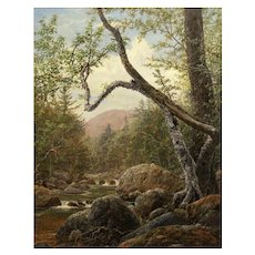 Erik Koeppel White Mountain Oil Painting Sawyer River NH