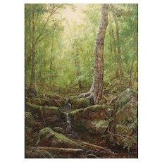 Erik Koeppel White Mountain Oil Painting Rocky Branch Pinkham Notch NH