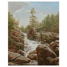 Erik Koeppel White Mountain Oil Painting Goodrich Falls Jackson NH