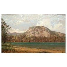 Erik Koeppel White Mountain Oil Painting Whitehorse Ledge from Echo Lake NH